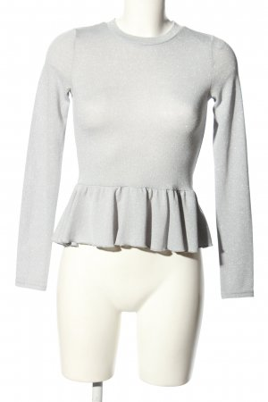 H&M Divided Knitted Jumper light grey casual look
