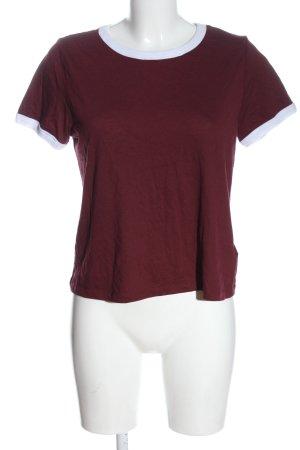 H&M Divided Strickshirt rot-weiß Casual-Look
