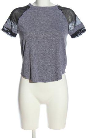 H&M Divided Gebreid shirt lichtgrijs-zwart gestippeld casual uitstraling