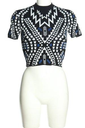 H&M Divided Strickshirt Allover-Druck Casual-Look