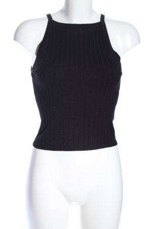 H&M Divided Knitted Top black cable stitch casual look