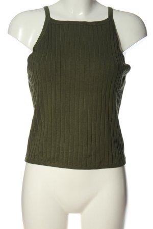 H&M Divided Stricktop khaki schlichter Stil