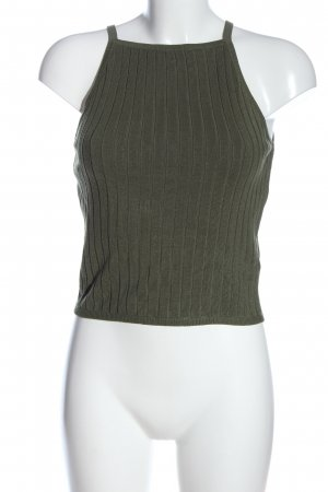 H&M Divided Stricktop khaki Casual-Look