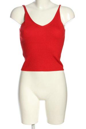 H&M Divided Top lavorato a maglia rosso motivo a righe stile casual