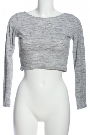 H&M Divided Knitted Top light grey flecked casual look