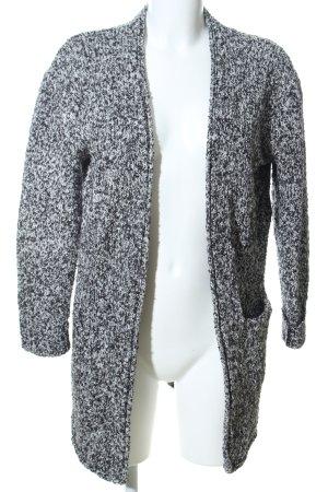 H&M Divided Chaleco de punto negro-gris claro moteado look casual