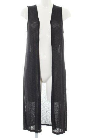 H&M Divided Gebreid vest zwart gestippeld casual uitstraling