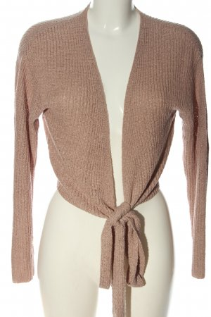 H&M Divided Knitted Wrap Cardigan brown flecked casual look