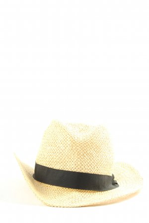 H&M Divided Sombrero de paja crema look casual