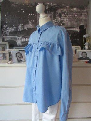 H&M Divided Ruche blouse azuur