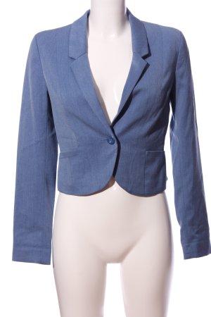 H&M Divided Sweatblazer blau Business-Look