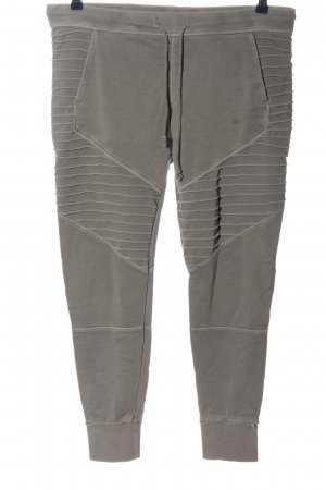 H&M Divided Joggingbroek lichtgrijs gestreept patroon casual uitstraling