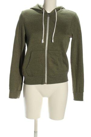 H&M Divided Sweatjacke khaki schlichter Stil