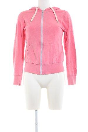 H&M Divided Chaqueta de tela de sudadera rosa look casual