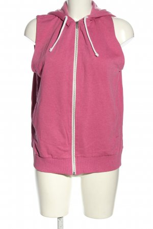 H&M Divided Sweatjack roze-wit gestippeld casual uitstraling