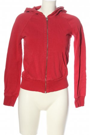 H&M Divided Sweatjack rood casual uitstraling