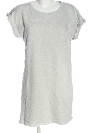 H&M Divided Robe Sweat gris clair moucheté style décontracté