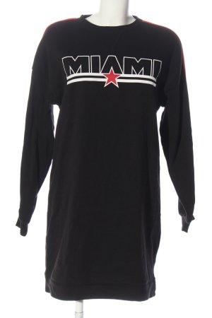 H&M Divided Robe Sweat noir lettrage imprimé style décontracté