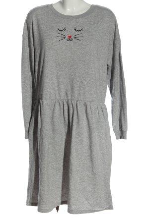 H&M Divided Vestido de tela de sudadera gris claro moteado look casual
