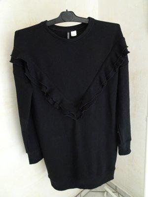 H&M Divided Sweatkleid,Kleid,38,Sweatshirtkleid,schwarz,Kleid