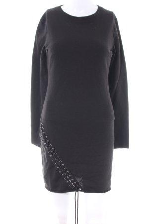 H&M Divided Sukienka dresowa czarny W stylu biznesowym