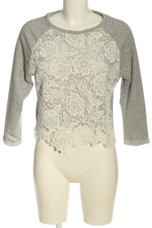 H&M Divided Sweatshirt weiß-hellgrau Casual-Look