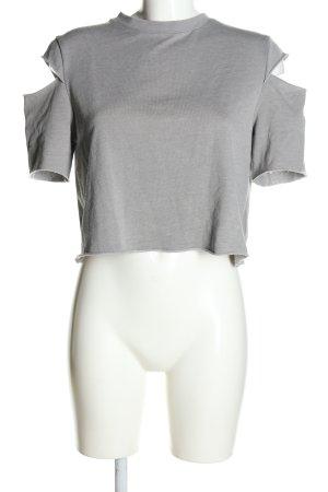 H&M Divided Sweatshirt hellgrau Casual-Look