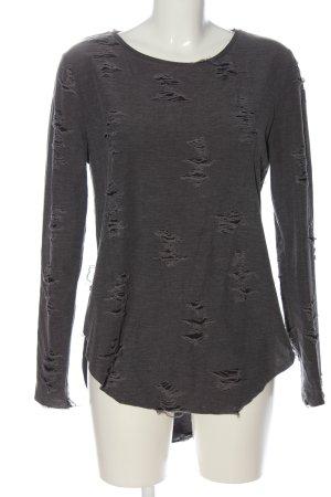 H&M Divided Sweatshirt schwarz-hellgrau Casual-Look