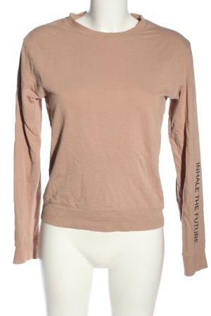 H&M Divided Sweatshirt nude Schriftzug gedruckt Casual-Look