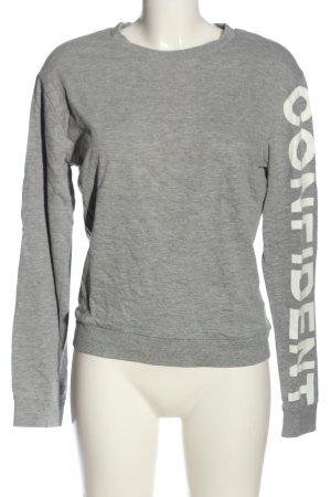 H&M Divided Sweatshirt hellgrau-weiß meliert Casual-Look