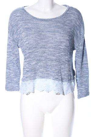 H&M Divided Sweatshirt blau meliert Casual-Look