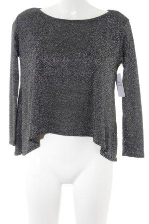 H&M Divided Sweatshirt schwarz-silberfarben Webmuster Casual-Look