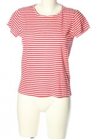 H&M Divided T-Shirt rot-weiß Allover-Druck Casual-Look