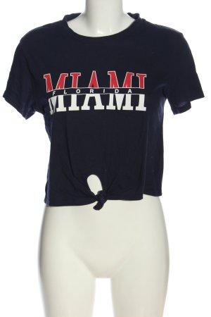 H&M Divided T-Shirt Schriftzug gedruckt Casual-Look