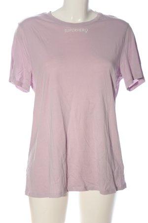 H&M Divided T-Shirt pink Schriftzug gedruckt Casual-Look