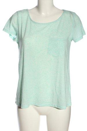 H&M Divided T-Shirt türkis meliert Casual-Look