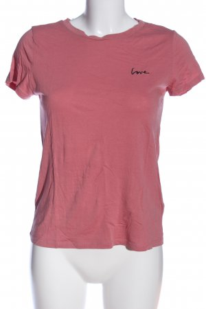 H&M Divided T-Shirt pink-schwarz Casual-Look