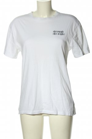 H&M Divided T-Shirt weiß-schwarz Motivdruck Casual-Look