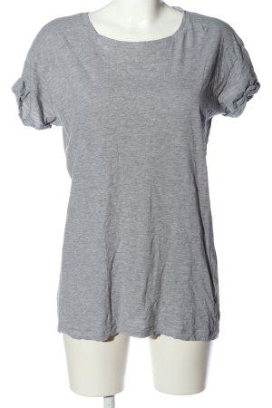 H&M Divided T-Shirt hellgrau meliert Casual-Look