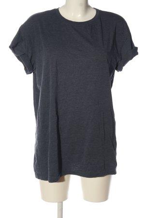 H&M Divided T-Shirt blau meliert Casual-Look