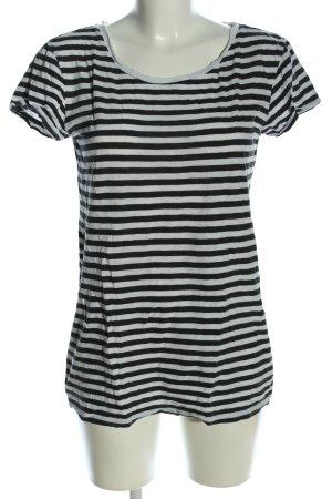 H&M Divided T-Shirt schwarz-weiß Streifenmuster Casual-Look
