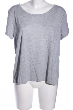 H&M Divided T-Shirt hellgrau meliert Casual-Look