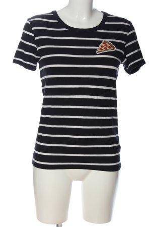 H&M Divided T-Shirt schwarz-weiß Allover-Druck Casual-Look