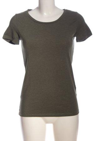H&M Divided T-Shirt khaki meliert Casual-Look
