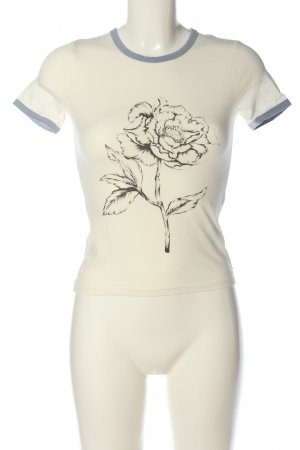 H&M Divided T-Shirt natural white flower pattern casual look