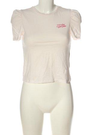 H&M Divided T-Shirt pink-rot Schriftzug gedruckt Casual-Look