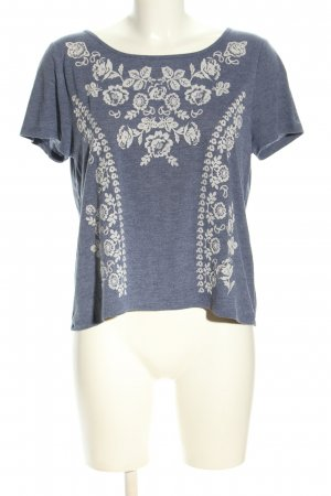 H&M Divided T-Shirt hellgrau-wollweiß Blumenmuster Casual-Look