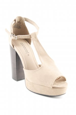 H&M Divided T-Strap Pumps camel classic style
