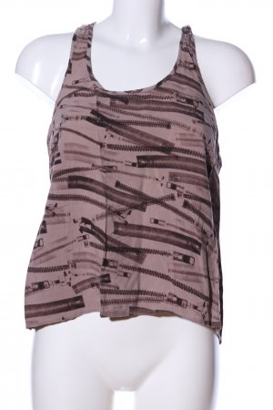H&M Divided Tanktop braun Allover-Druck Casual-Look