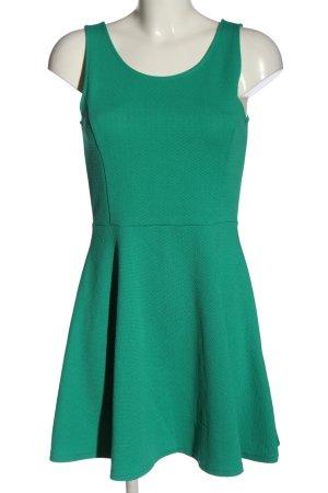 H&M Divided Trägerkleid grün Allover-Druck Casual-Look